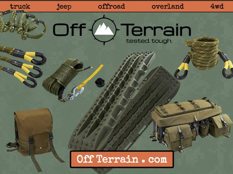 Portland OR based Off Terrain company debuts exciting new Off Road and Overlanding product line.